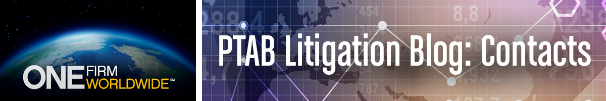 Jones Day's PTAB Litigation Blog, Contacts Page